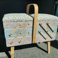 Upcycled Sewing Box   Shabby Chic