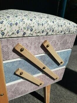 Upcycled sewing box using paper and fabric .  Make a decoupage box using fabric, paper, and glue. Inspired by vintage & retro and floral. Creation posted by Alix Marie Abram.  in the Decorating section Difficulty: Easy. Cost: Absolutley free.