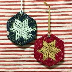 Woven Hexie Ornament