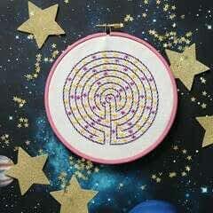 Star Maze Embroidery
