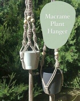 Macrame Plant Hanger Tutorial .  Free tutorial with pictures on how to make a hanging planter in under 60 minutes by knotting with cord, cord, and size. How To posted by The Little Craft House.  in the Other section Difficulty: Simple. Cost: 3/5. Steps: 13