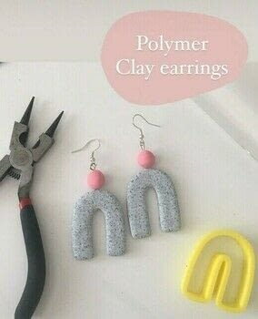 Join me as we make this pair of polymer clay earrings!  .  Free tutorial with pictures on how to make a pair of clay earring in under 120 minutes by jewelrymaking with polymer clay, cutter, and acrylic roller. How To posted by The Little Craft House.  in the Jewelry section Difficulty: 3/5. Cost: 3/5. Steps: 9