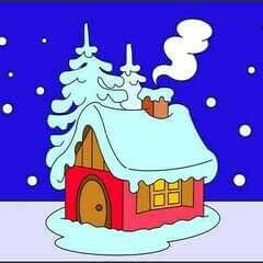 How To Draw A Hut In The Snow