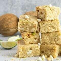 Lime Coconut Macadamia Blondies