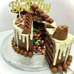 Piñata Chocolate Cake