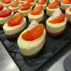 Blood Orange Baked Cheesecake