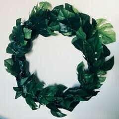 Easy DIY Tropical Monstera Leaf Wreath Tutorial