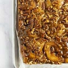 Maple Bourbon Pecan Caramel Rolls