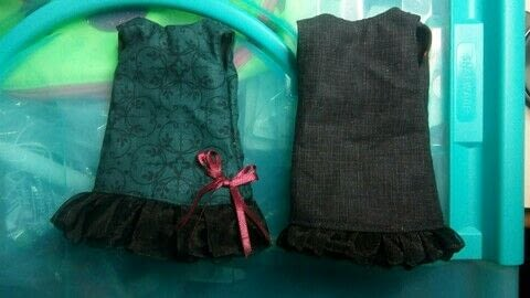 Simple, but fun! .  Sew a piece of doll clothing in under 30 minutes by sewing, hand sewing, and machine sewing with fabric, sheer ribbon, and sew on snaps. Creation posted by CiiMoore.  in the Sewing section Difficulty: Simple. Cost: Cheap.