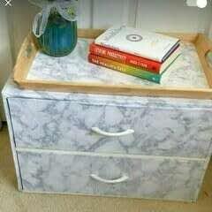 DIY Marble Beside Table