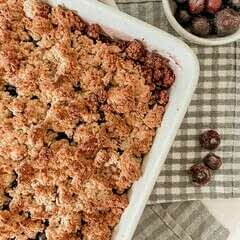Healthy Blueberry Breakfast Crumble