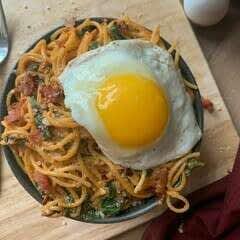 Breakfast For Dinner Spaghetti