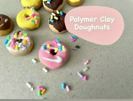 Good enough to eat (almost!) .  Free tutorial with pictures on how to make a charms in under 60 minutes using polymer clay, liquid clay, and polymer clay. Inspired by donuts. How To posted by The Little Craft House.  in the Jewelry section Difficulty: Simple. Cost: 3/5. Steps: 8