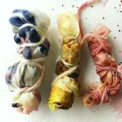 Bundle Dye Fabric With Natural Dyes