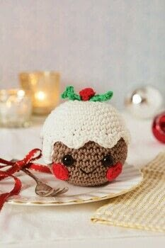 Amigurumi Christmas .  Free tutorial with pictures on how to make a food plushie in 6 steps by crocheting and amigurumi with cotton yarn, safety eyes, and embroidery thread. Inspired by christmas. How To posted by Search Press.  in the Yarncraft section Difficulty: Simple. Cost: Cheap.