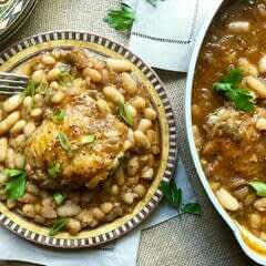 Chicken Thighs With Barbecue Beans