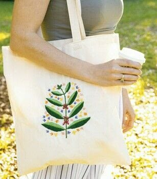 Beautiful Embroidered Accessories .  Free tutorial with pictures on how to stitch an embroidered tote in under 180 minutes by embroidering with tote bag, template, and marker. How To posted by Melia.  in the Needlework section Difficulty: Simple. Cost: Cheap. Steps: 6