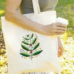 Sprouting Coffee Plant Tote