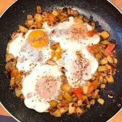 Potatoes And Egg Breakfast