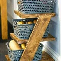 Diy Z Shelf Basket Storage Trolley