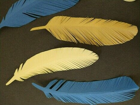 A few quick snips and you can make a flock of fancy feathers!  .  Free tutorial with pictures on how to cut a piece of papercutting in under 5 minutes using paper, pencil, and paper scissors. Inspired by feathers. How To posted by Delicate Stitches.  in the Papercraft section Difficulty: Easy. Cost: No cost. Steps: 6