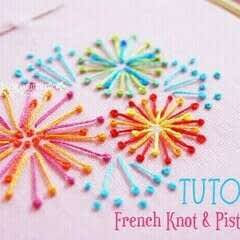 Pistil Stitch And French Knot Tutorial