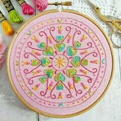 Spring Hearts Embroidery Pattern