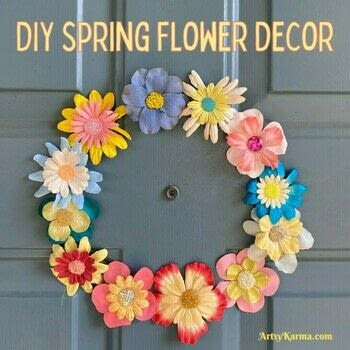 A project perfect for spring .  Free tutorial with pictures on how to make a piece of seasonal decor in under 120 minutes using seed beads, hot glue, and fake flower. Inspired by crafts and flowers. How To posted by Heather M.  in the Decorating section Difficulty: Easy. Cost: No cost. Steps: 6