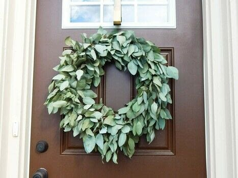 Make a Fresh Eucalyptus Wreath for your Front Door .  Free tutorial with pictures on how to make a wreath in under 30 minutes by decorating with fresh eucalyptus bunches, floral wire, and wire cutters. How To posted by Christene A Holder.  in the Home + DIY section Difficulty: Simple. Cost: Cheap. Steps: 8