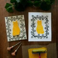 Two Color Block Print