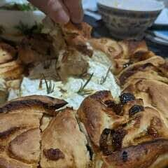 Herb And Chutney Bread Wreath With Camembert
