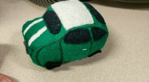 Felt Mini car .  Make an object plushie using felt, stuffing, and embroidery thread. Creation posted by Rhianna S.  in the Sewing section Difficulty: Simple. Cost: Cheap.