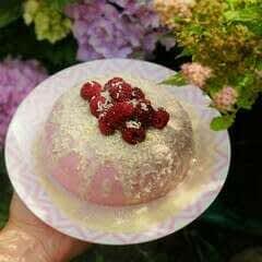 Raspberry & White Chocolate Panna Cotta