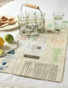 Big Stitch Quilting .  Free tutorial with pictures on how to make a tablecloth / table runner in under 120 minutes by sewing and patchworking with bags, batting, and calico. How To posted by Search Press.  in the Needlework section Difficulty: 3/5. Cost: 3/5. Steps: 7