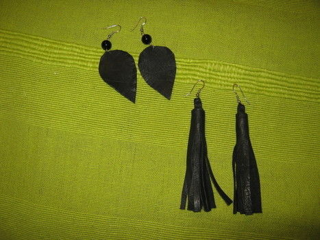 Play with leather .  Make a tassel earring in under 20 minutes by jewelrymaking with beads, earring hooks, and hot glue. Creation posted by iita. Difficulty: Easy. Cost: Cheap.