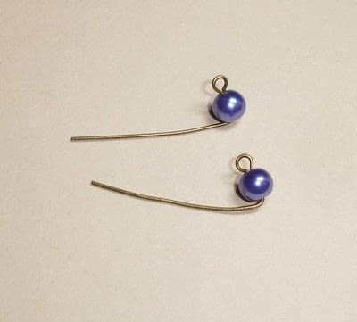How to make a dangle earring. How To Make Simple Earrings - Step 2