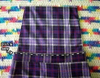 How to make a pinafore dress. Skirt To Pinafore Dress ~Transformation~ - Step 11