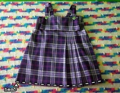 How to make a pinafore dress. Skirt To Pinafore Dress ~Transformation~ - Step 14