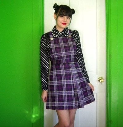 How to make a pinafore dress. Skirt To Pinafore Dress ~Transformation~ - Step 15