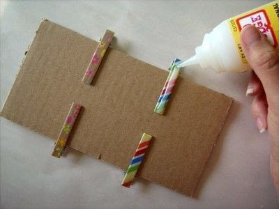 How to make an embellished hair clip. Washi Tape Barrettes - Step 6