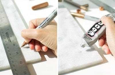 How to make a tray. Simply Elegant Diy Marble Tray - Step 1