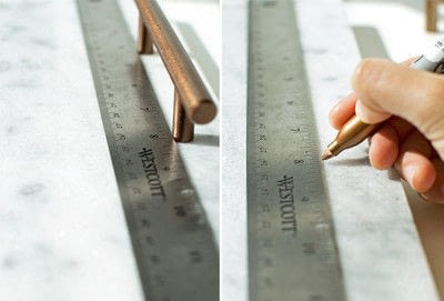 How to make a tray. Simply Elegant Diy Marble Tray - Step 3