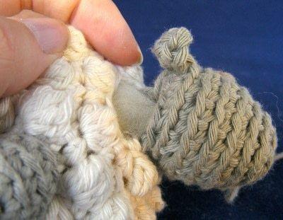 How to make a lamb / sheep plushie. Bobble Sheep - Step 6