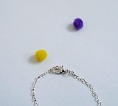 How to make a pom pom necklace. Statement Pom Pom Necklace - Step 7