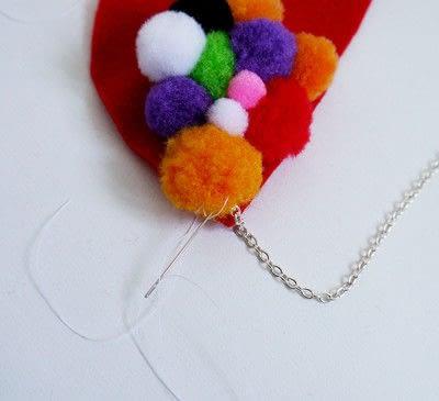 How to make a pom pom necklace. Statement Pom Pom Necklace - Step 8