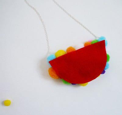 How to make a pom pom necklace. Statement Pom Pom Necklace - Step 9