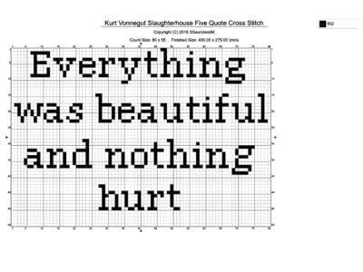 How to cross stitch art. Kurt Vonnegut   Slaughterhouse Five Quote Cross Stitch - Step 1