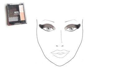How to create a glitter eye. Dramatic Glittery Smokey Eye - Step 1