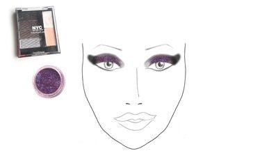 How to create a glitter eye. Dramatic Glittery Smokey Eye - Step 2