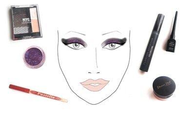 How to create a glitter eye. Dramatic Glittery Smokey Eye - Step 4